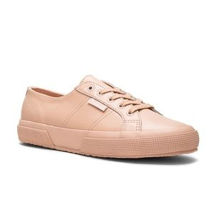 Superga - Blush Pink Leather Sneakers - Size 41.5